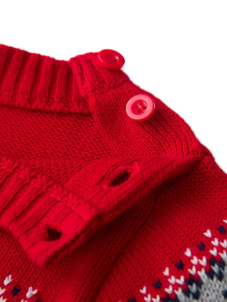 ce168e76f 2PCS Xmas Baby Romper Hat Set Outfit Christmas Clothes Reindeer Knitted  Sweaters Jumpsuit +Warm Hat