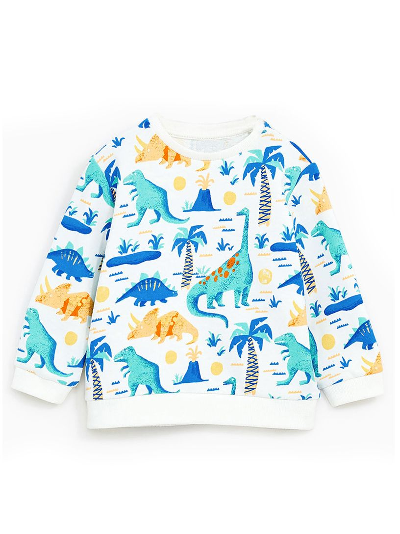 941ee181e Tap to expand · Selva Style Cartoon Dinosaur Coconut Tree Print Cotton  Sweatshirt Toddler Big Boys Pullover T-shirt ...