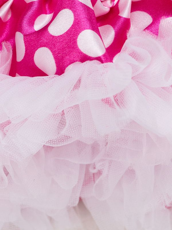 c803ded3c464 ... Trendy Bow Polka Dots Baby Princess Tutu Skirt Spanish Style Baby Party  Clothes ...