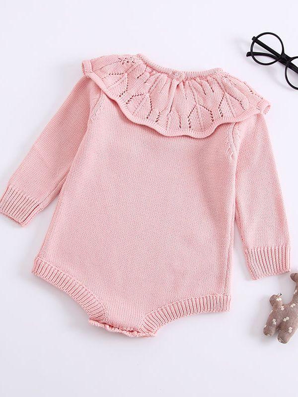 627c17fe6 Wholesale Ruffled Pierced Collar Knitted Infant Girl