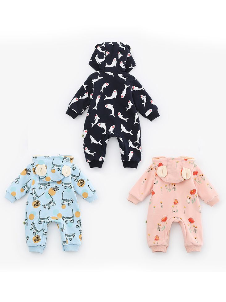 0ddffacd3 Wholesale Unisex Baby Animal Flower Fleece-Lined Hoodie