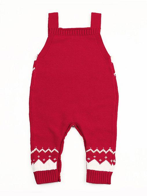 87b06868315 ... Christmas Elk Crocheted Suspender Baby Romper Xmas Infant Knit Jumpsuit  Onesie ...