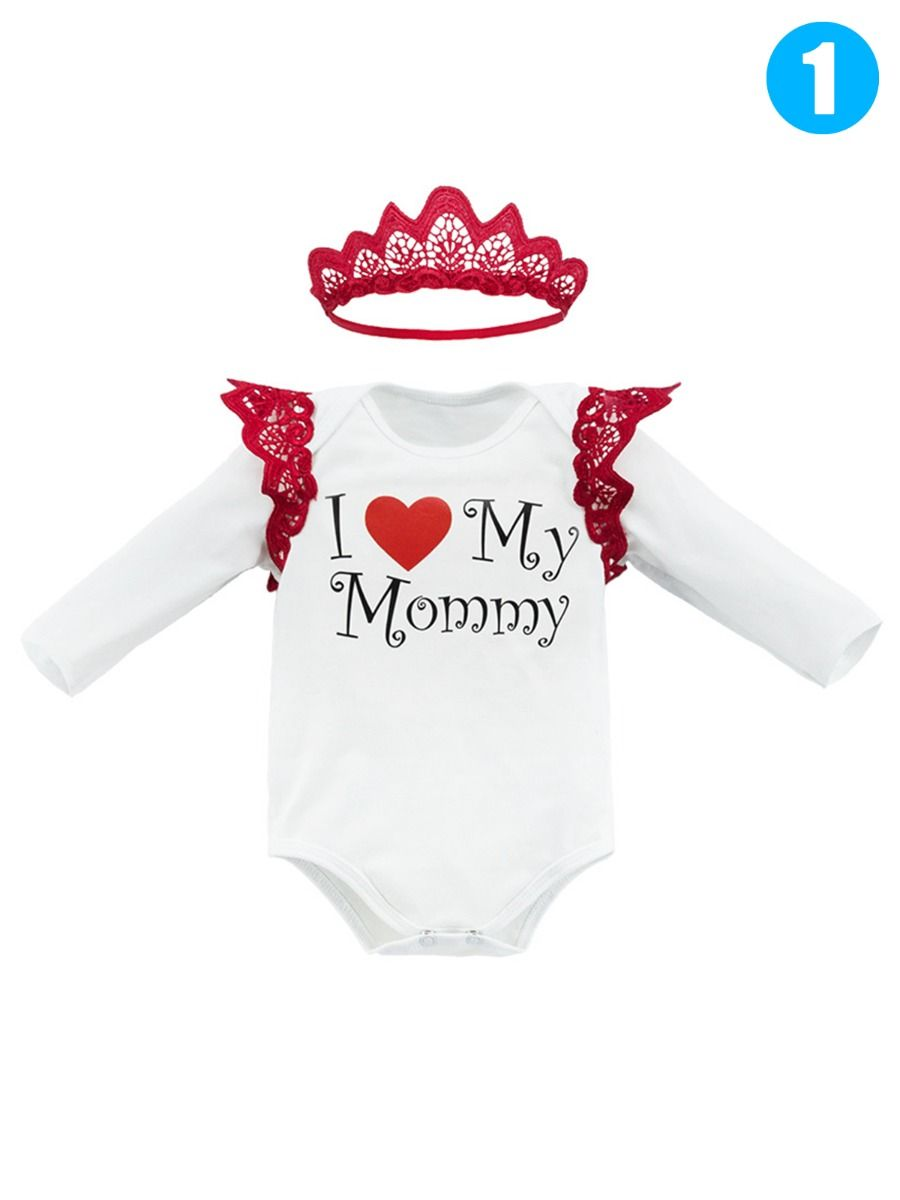 Infant Flutter Romper Happy 1St Mothers Day Mommy