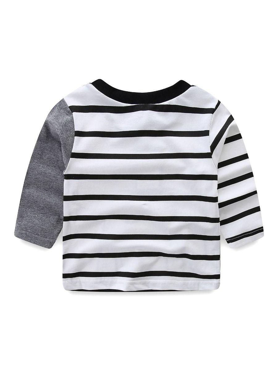ab4f2888 ... 2 PCS Baby Boys Girls Kids Homewear Set Long Sleeve Elephant Pattern T- shirt Top ...