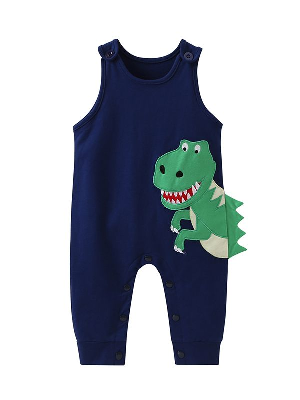 2d61d3286 Tap to expand · Cute Dinosaur Pattern Sleeveless Baby Romper Jumpsuit Infant  Cotton Playsuit ...