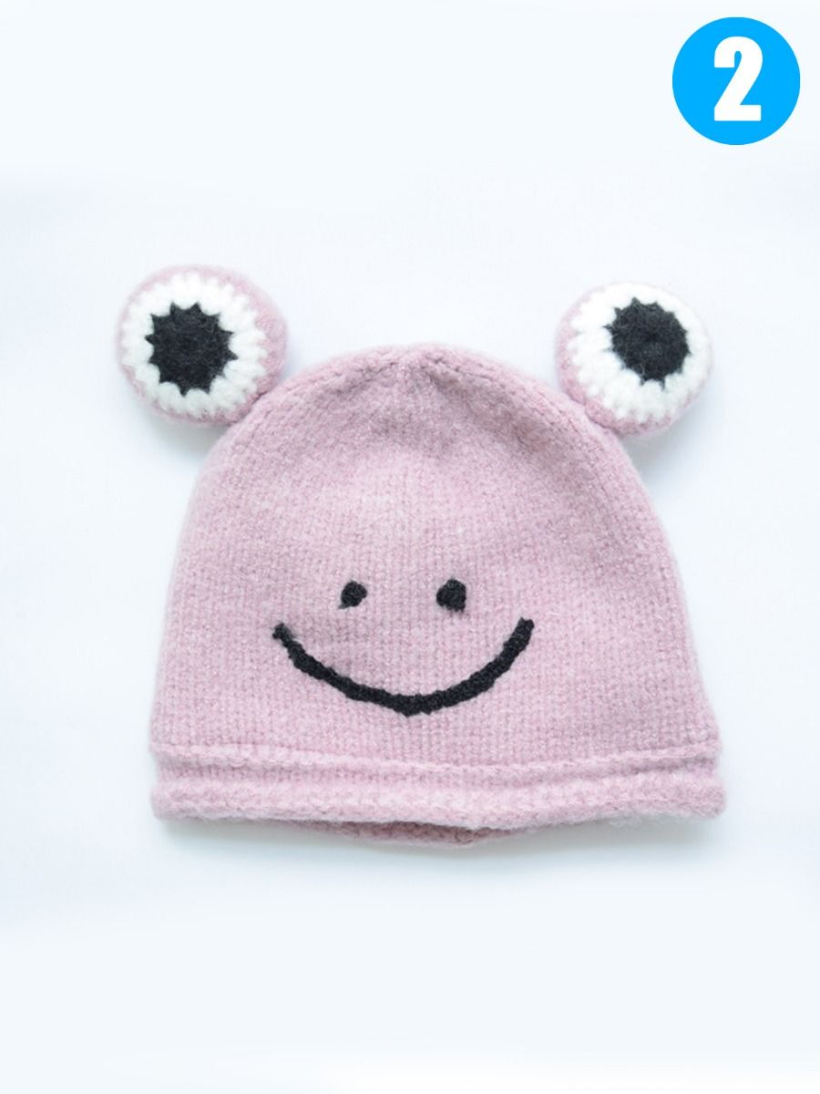 07b56c5aa Infant Boys Girls Frog Knit Beanie Hat for Winter Wholesale