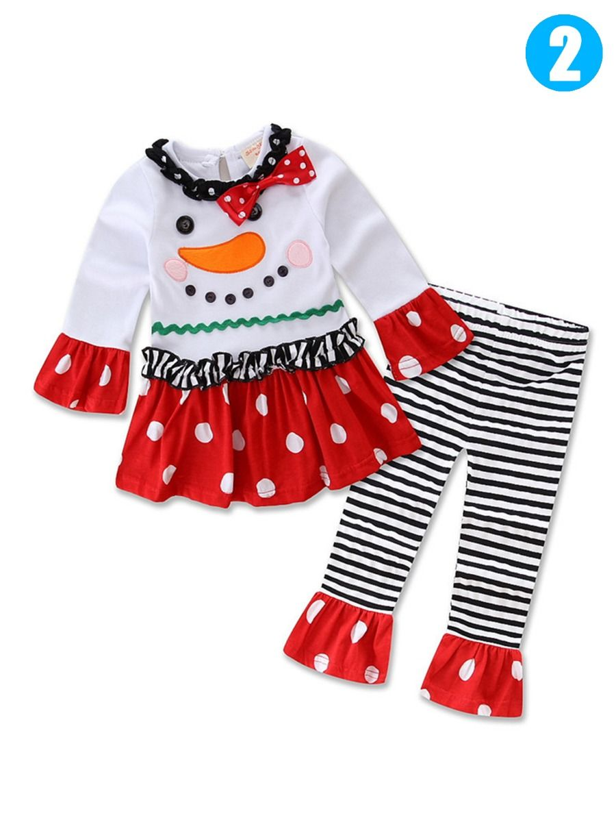 947cf8eea7e7 ... 2PCS Baby Toddler Girls Christmas Clothes Costume Set Santa Clause/ Christmas/Reindeer Bow T ...