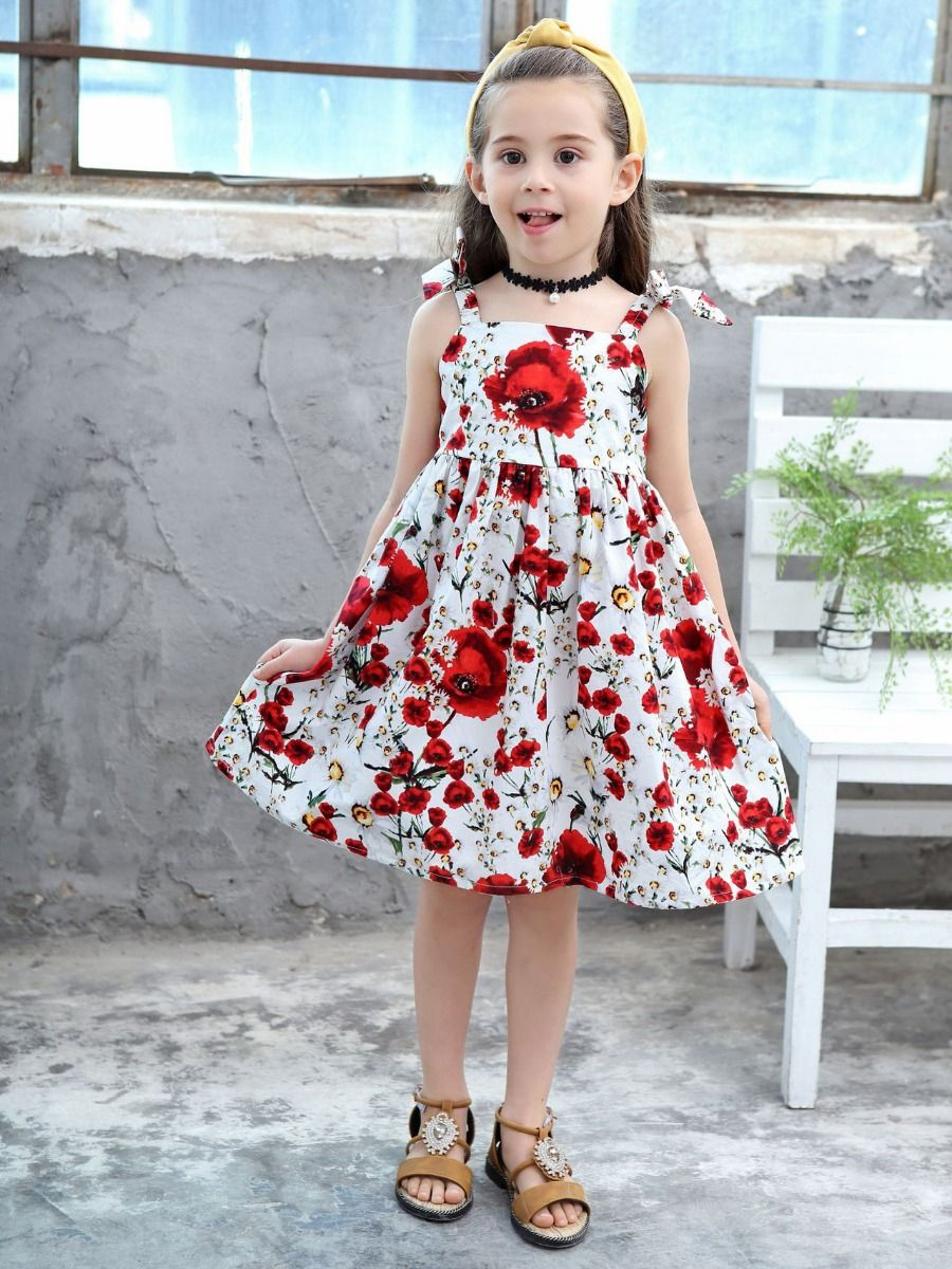 b64d302a8b5e Baby Toddler Big Girl Floral Pinafore Dress for Summer ...