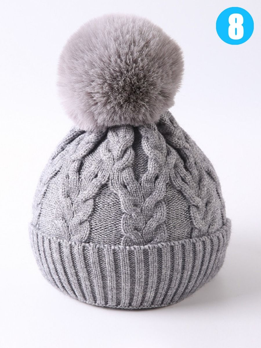 ffa748660 Baby Toddler School Kids Pom Cable Knit Beanie Hat Wholesale