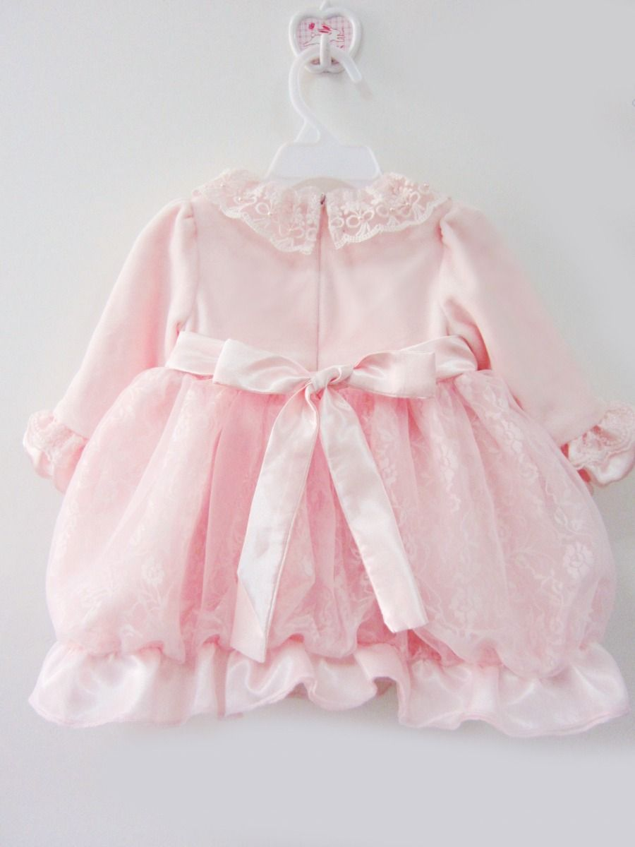 897e42ec3e1c ... Adorable Beaded Flower Infant Girl 1st Birthday Party Dress Princess  Lace Pink Frock Spanish Style Baby ...