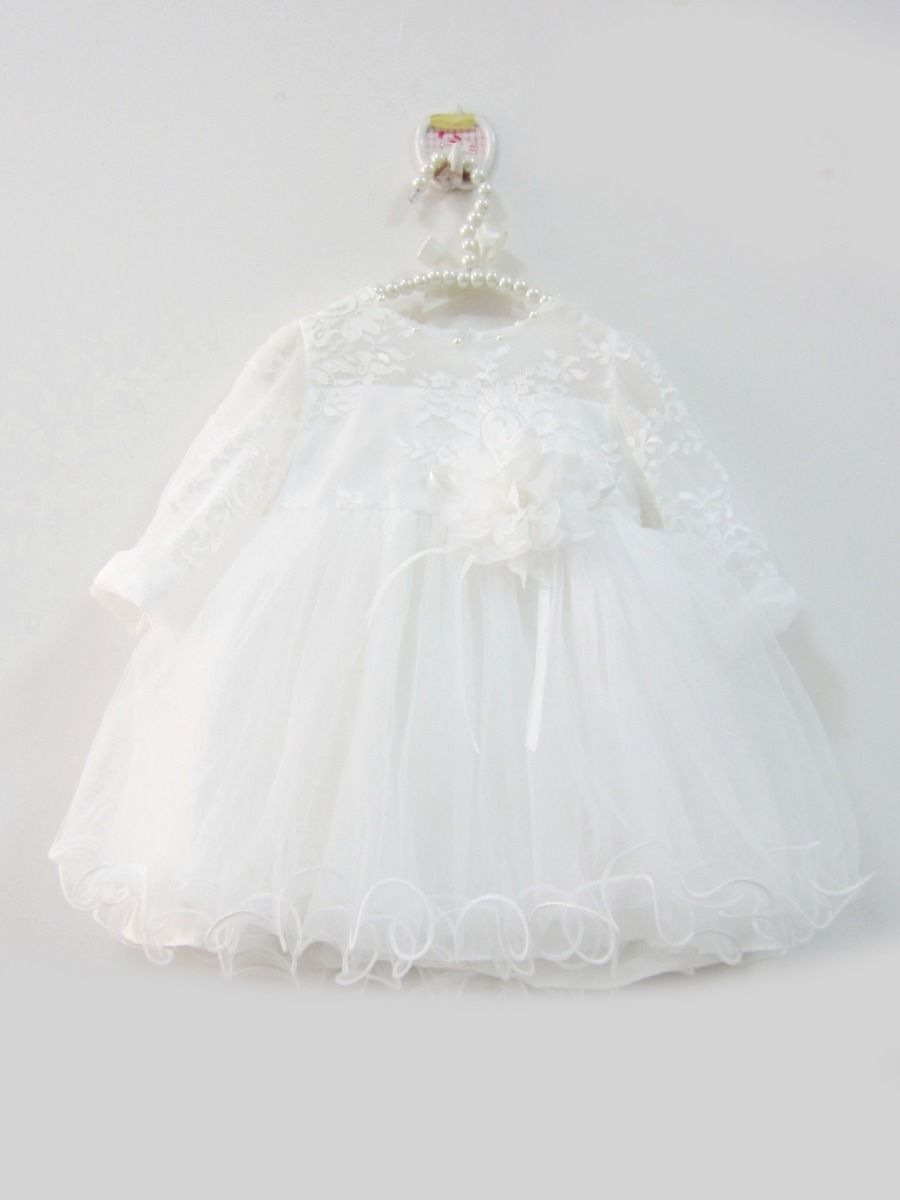 6b3e84621 Tap to expand · Fancy Flower Beaded Lace White Tulle Baby Princess Baptism  Dress Christening Gown Infant Girls 1st Birthday ...