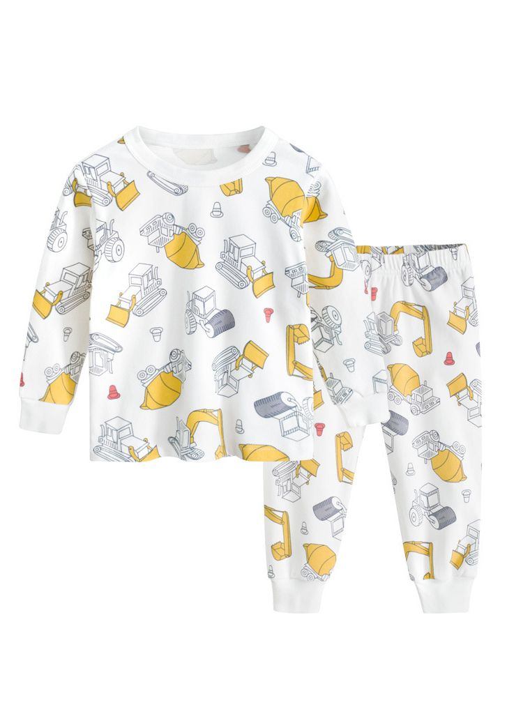 5f6d1244be Tap to expand · 2PCS Cartoon Shop Truck Toddler Big Boys Girls Pajama  Homewear Set Pullover Shirt Top+Long ...