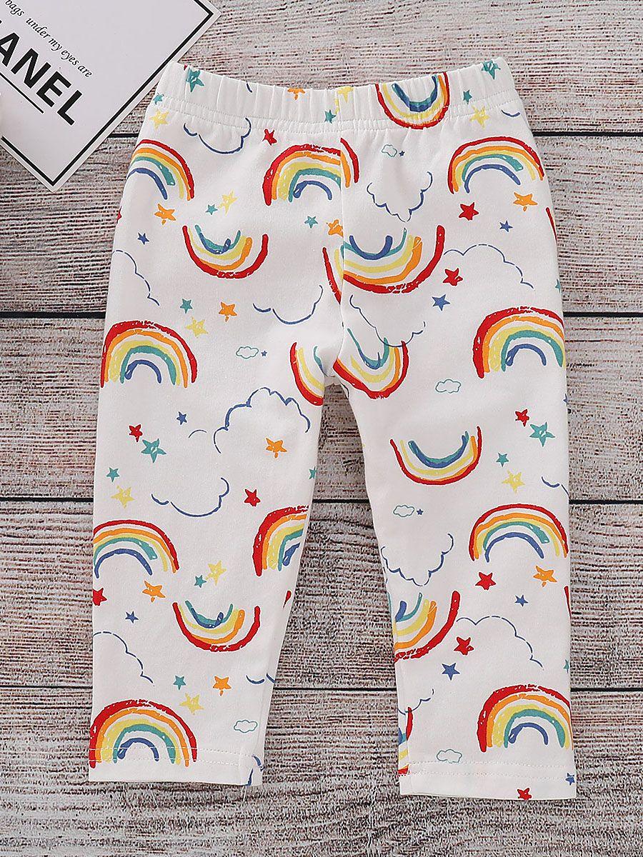e9f39d6d8e477 Toddler Big Girl Rainbow Leggings Kids Footless Tights for Spring Autumn ...