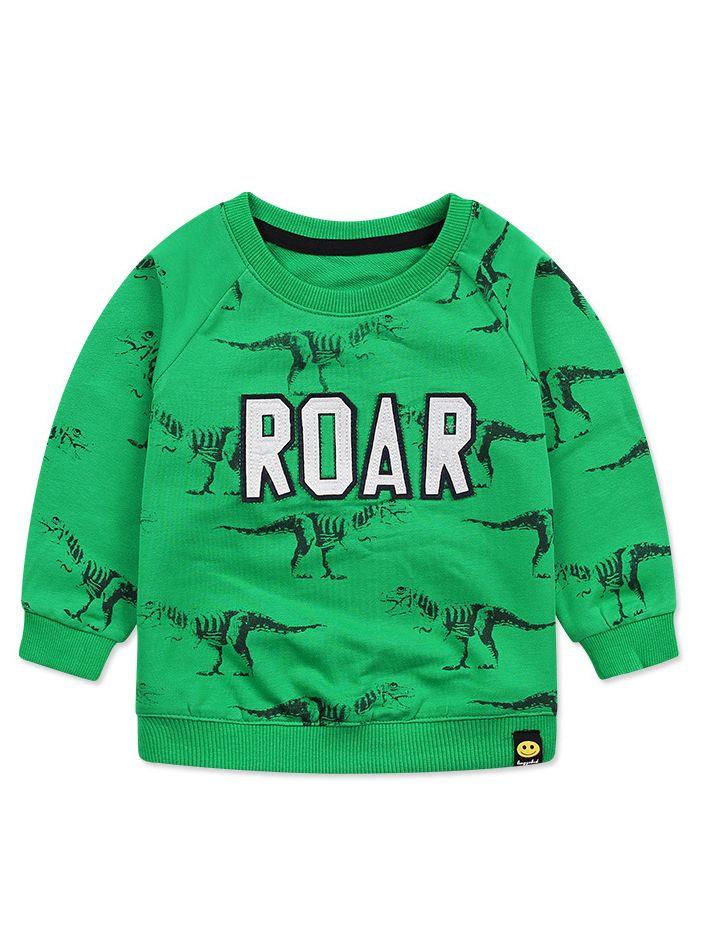 3bc2421ac Tap to expand · ROAR Dinosaur Jumper Baby Little Boys Sweatshirt Top ...