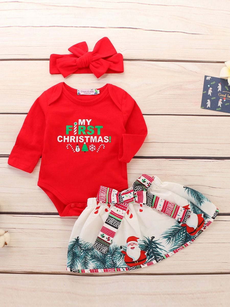 a5792ab6a Wholesale 3-piece Baby Girl Christmas Clothes Outfit