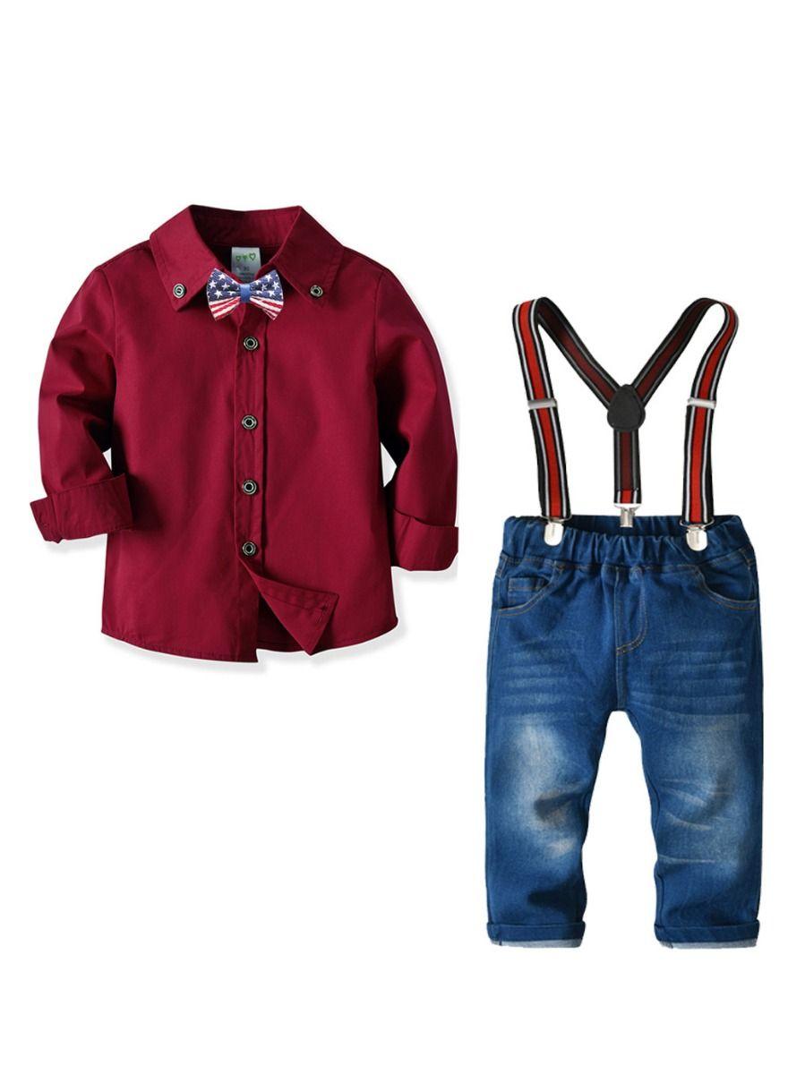 Wholesale 4-Piece Little Big Boy Kids British Style Gen