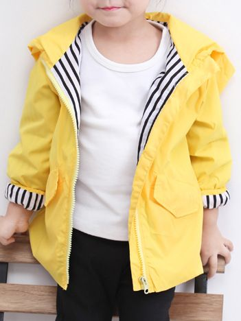 Digirlsor Baby Boys Girls Yellow Duck Raincoat Kids Hooded Zip Windbreaker Waterproof Jacket,1-5Y