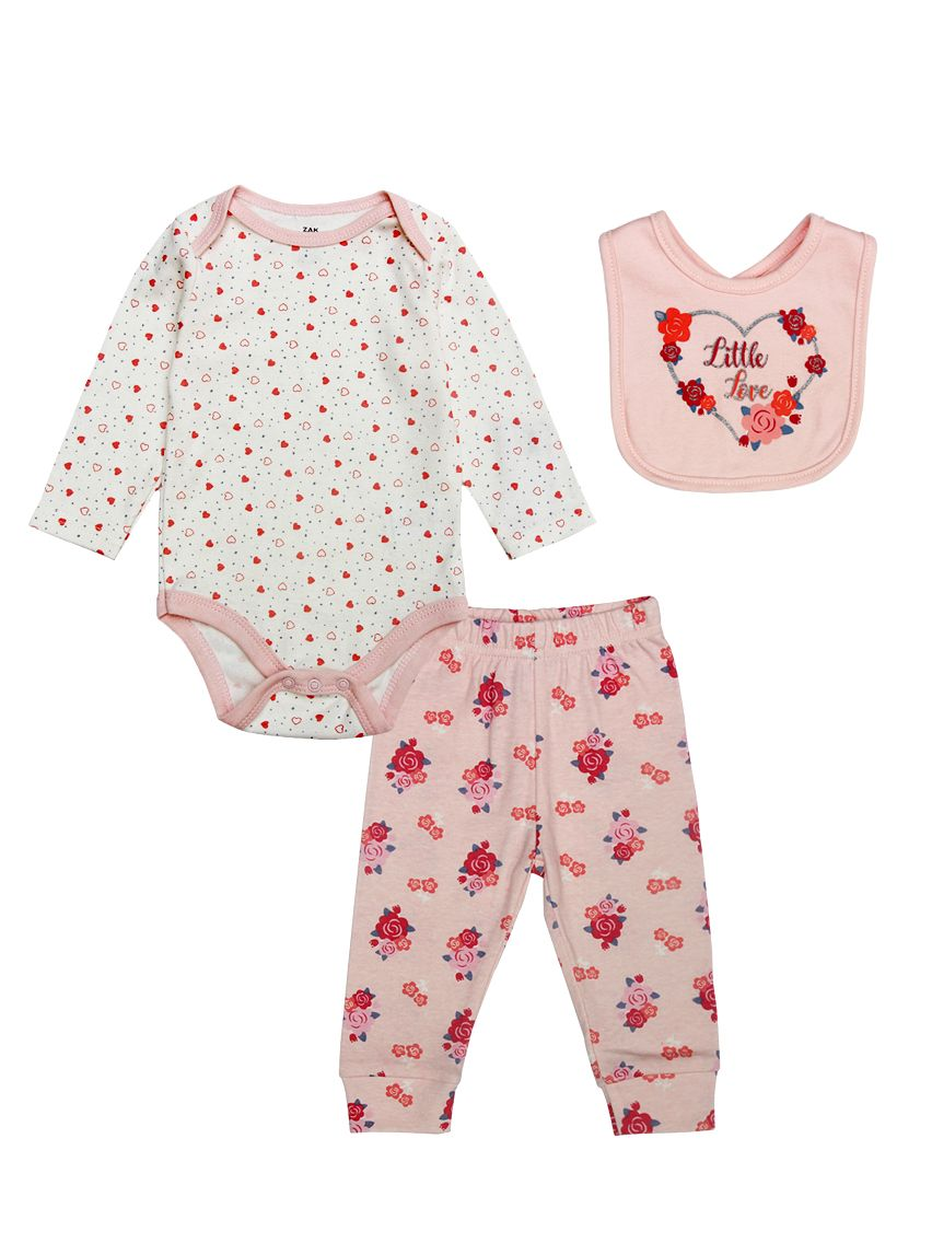 aeb971679ed3 Wholesale 3-piece Newborn Baby Girl Cotton Clothes