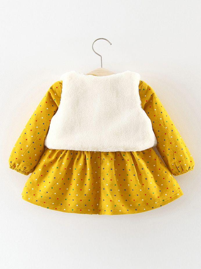 26240a605 Wholesale 2-Piece Infant Girl Winter Dress Outfits Set