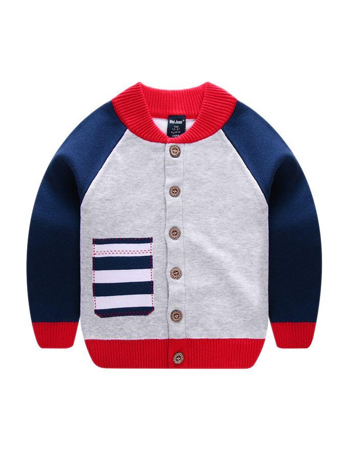 54ce0aaddbdcab ... Toddler Big Boys Girls Color Blocking Crochet Cardigan Kids Knitwear ...