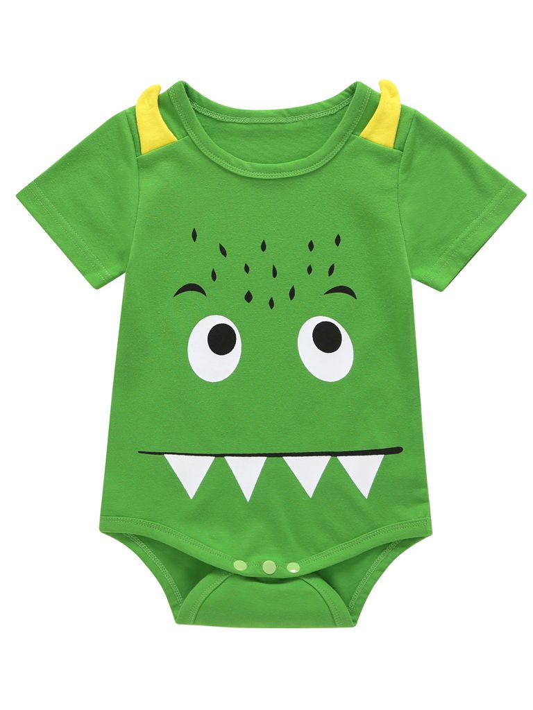 c185e3485c7d Wholesale Cute Monster Baby Boys Summer Bodysuit Onesie