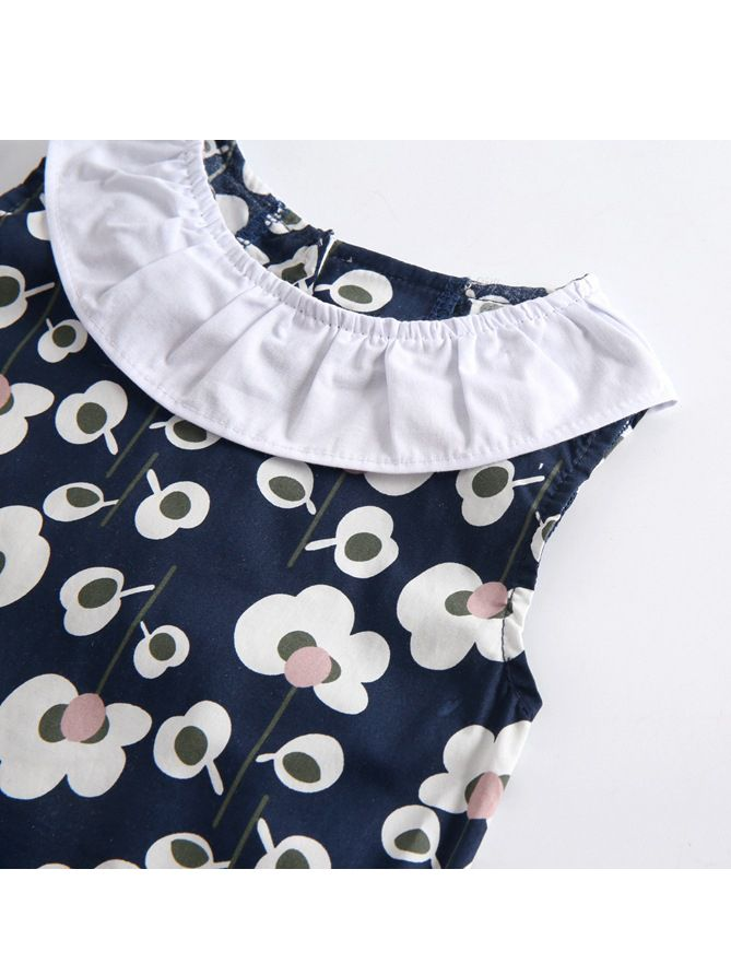 05365a9aac29 Wholesale Ruffle Collar All-over Floral Print Baby Girl