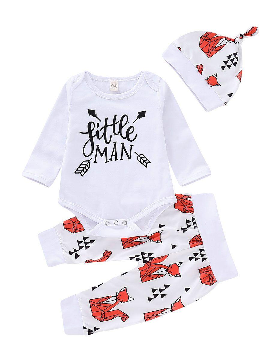 505d3ee1dc9b Wholesale 3-piece Baby Boys Spring Little Man Onesie