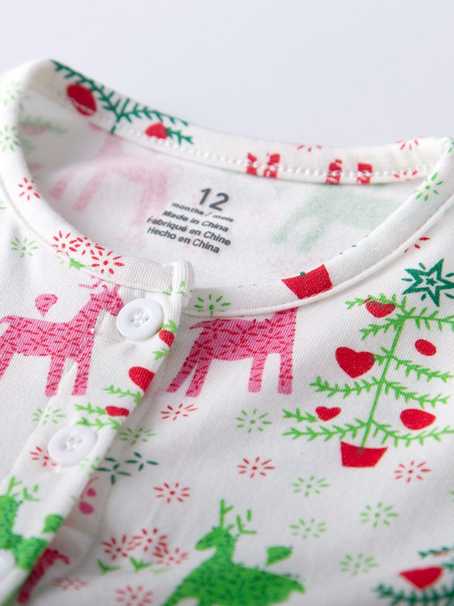 1c06b6c2115 ... Christmas Deer Print Baby Girl Summer Romper Dress ...