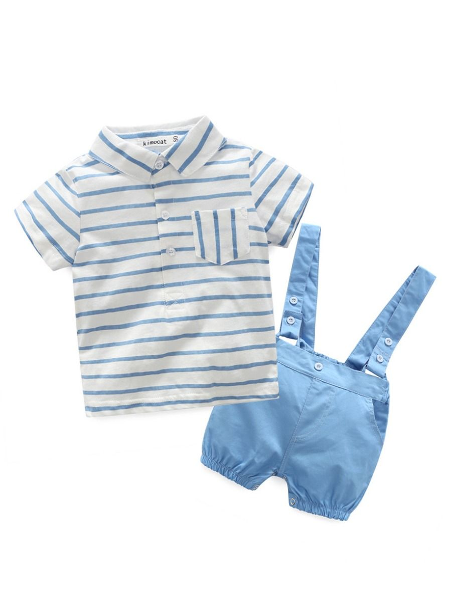 Wholesale 4-piece Baby Boy Summer Clothes Outfits Set S