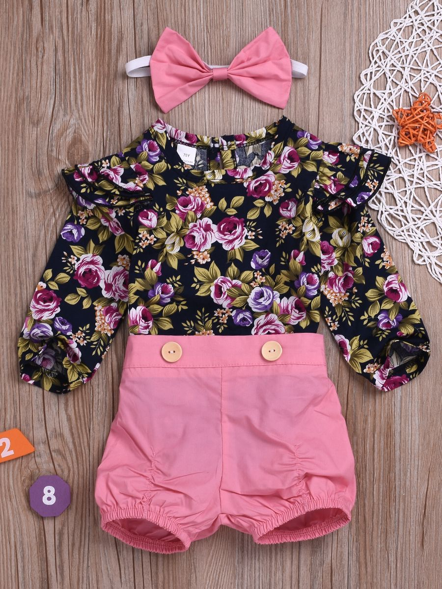 a9ebbf2b8 Wholesale 3-Piece Baby Girl Spring Summer Chic Clothes