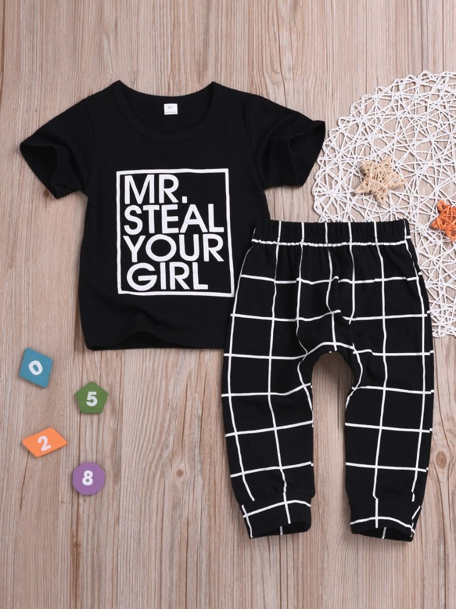 a5bcbcab489b STEAL 2-Piece Baby Little Boys Girls Spring Summer Casaul Clothing Outfits  Set MR.STEAL ...