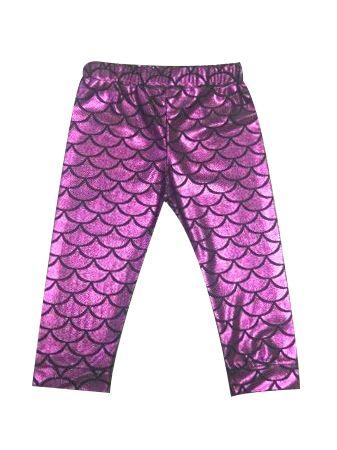 944f980742fb2 ... Fashion Baby Girl Metallic Mermaid Leggings Infant Fish Scale Leggings  ...