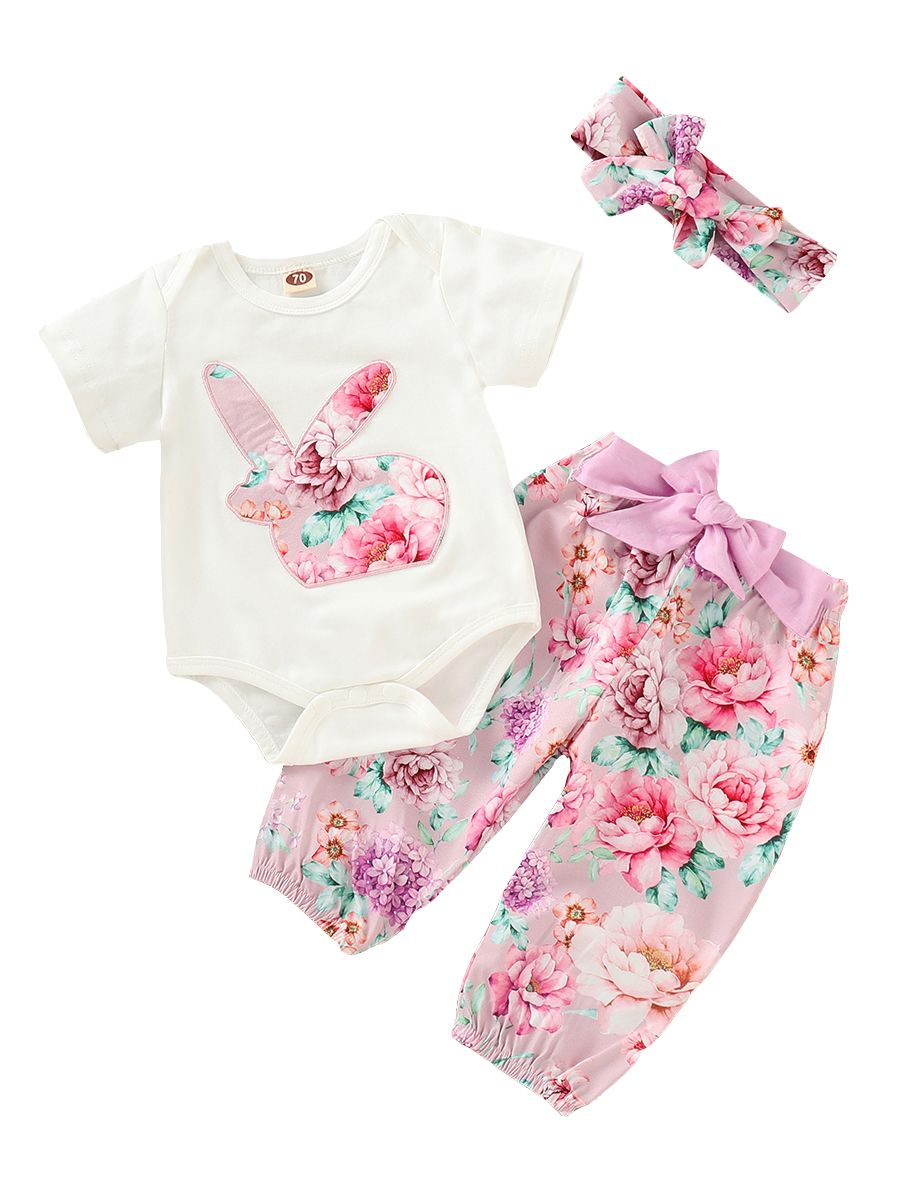 ab03f2ecf Wholesale 3-piece Spring Summer Baby Girl Easter