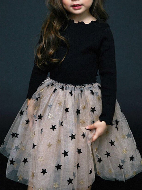 Franterd Dress for Little Girls Baby Flower Sequins Buling Buling Pachwork A-Line Sundress Princess Party Sunsuit