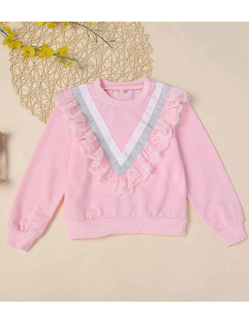 56dfb8bae Wholesale Toddler Big Girl Lace-trimmed Long-sleeved
