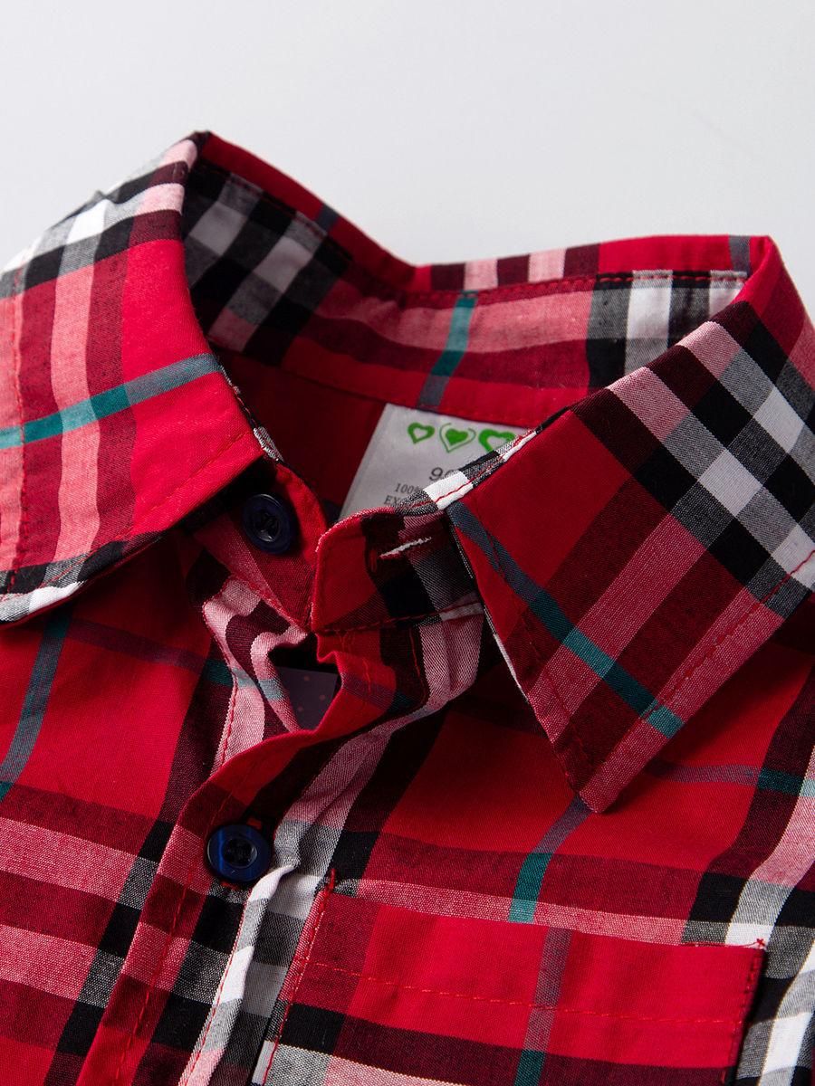 Wholesale 4-Piece Boys Kids Clothes Outfits Set Gingham