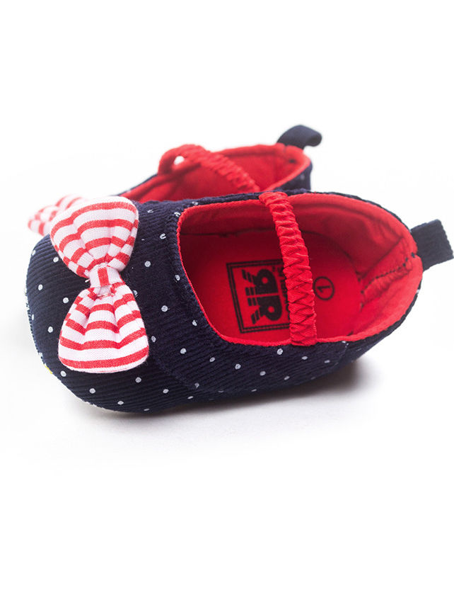 237d289af794 ... Spring Cute Bow Polka Dots Baby Girl Pre-walker Shoes ...
