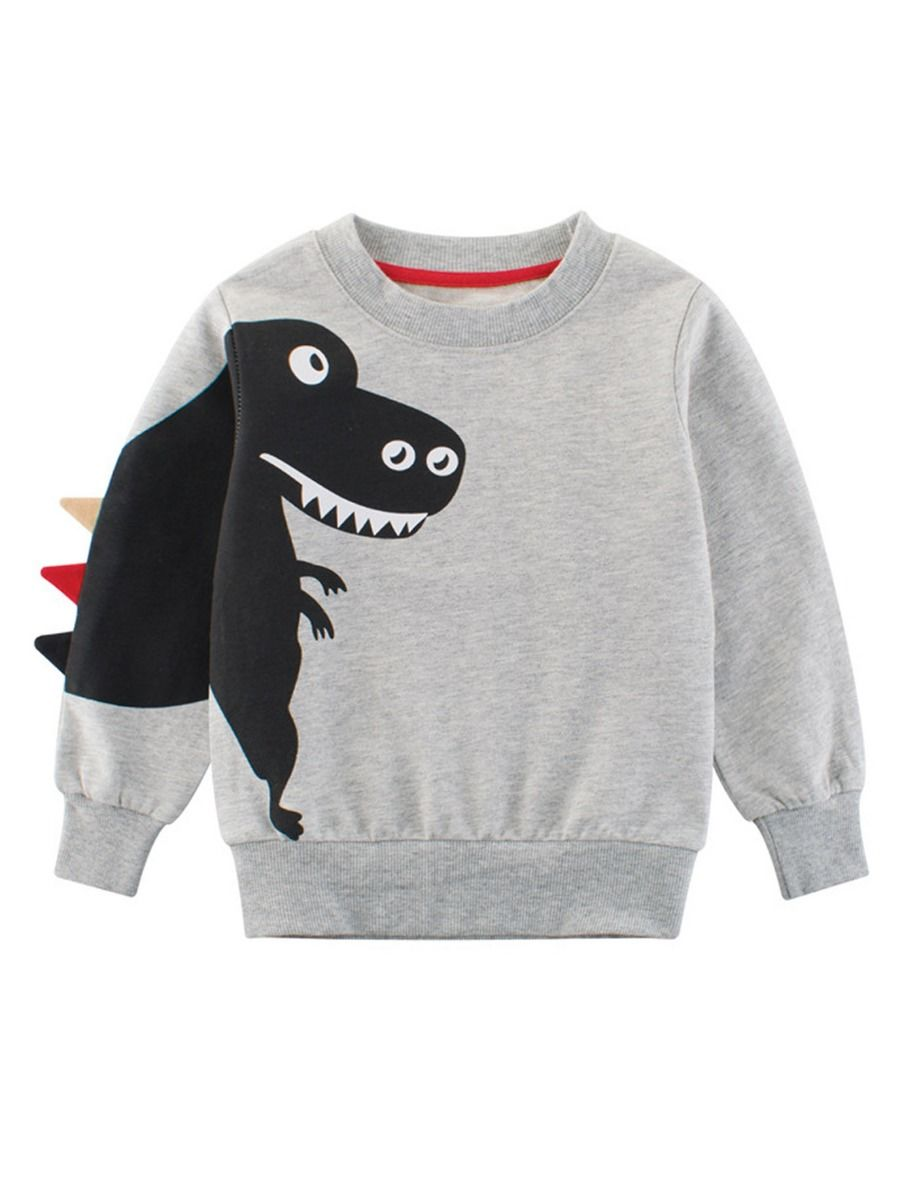 726fd54f2 Tap to expand · Spring Stylish Toddler Big Boys Dinosaur Pattern Jumper  Pullover ...