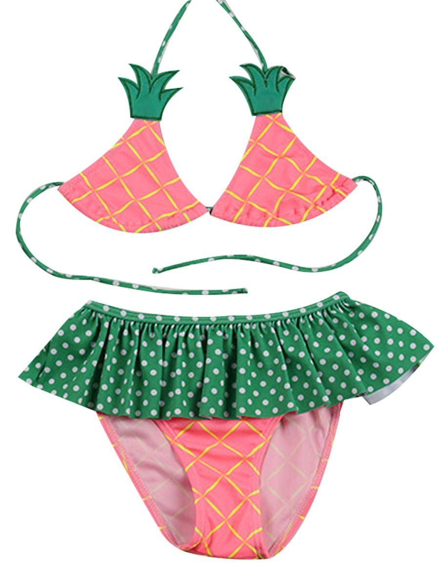 345b77e85b 2-Piece Toddler Big Girl Pineapple Pattern Bikini ...