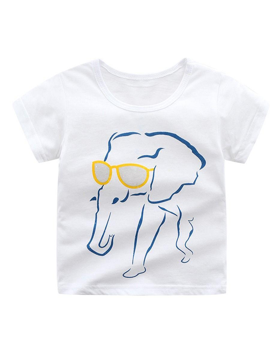 b61bf9c2867b 6-PACK Cool Cartoon Animal Big Toddler Boy White T-shirt ...