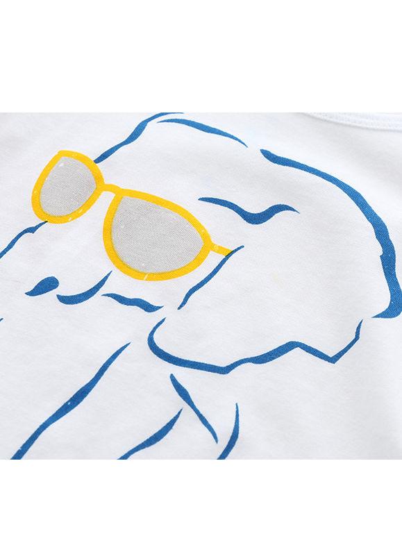 79d17614215c ... 6-PACK Cool Cartoon Animal Big Toddler Boy White T-shirt ...
