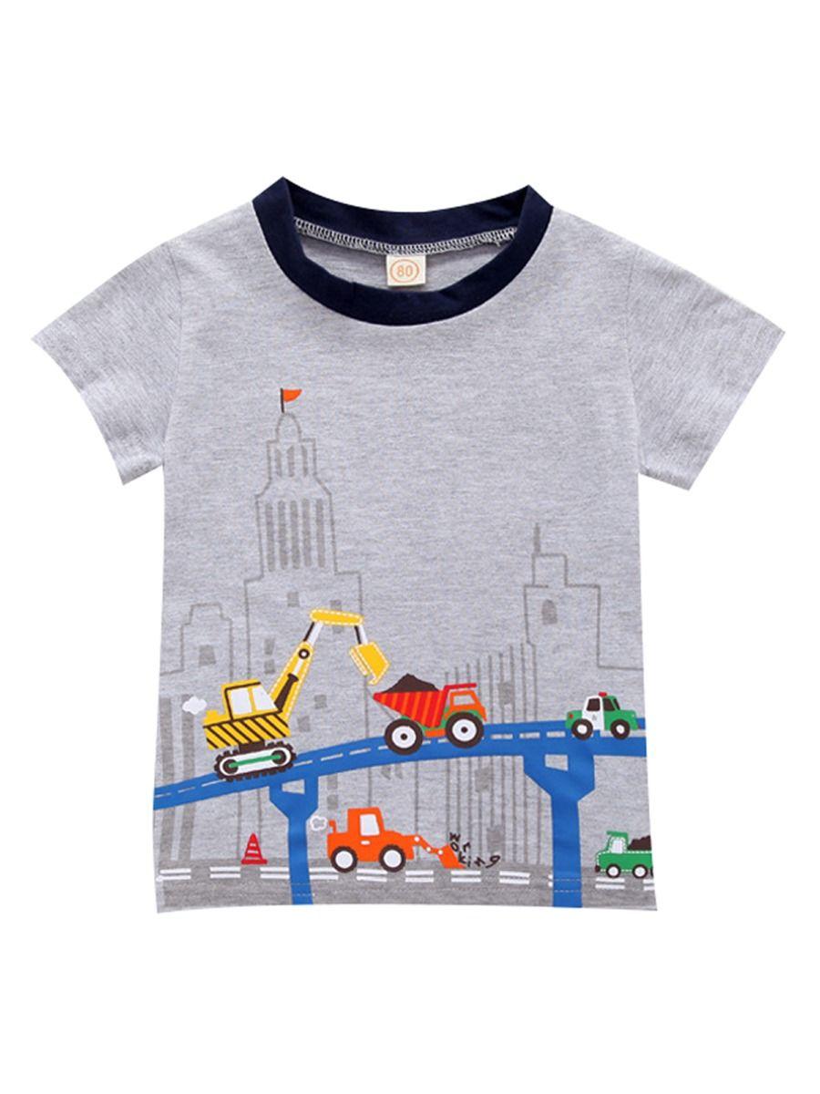 WAOTIER 3 St/ück Baby Boy Herbst Langarm T-Shirt Kleinkind Auto Muster Basic T-Shirt Rundhals Patchwork Tops f/ür 1-7 Jahre Kinder