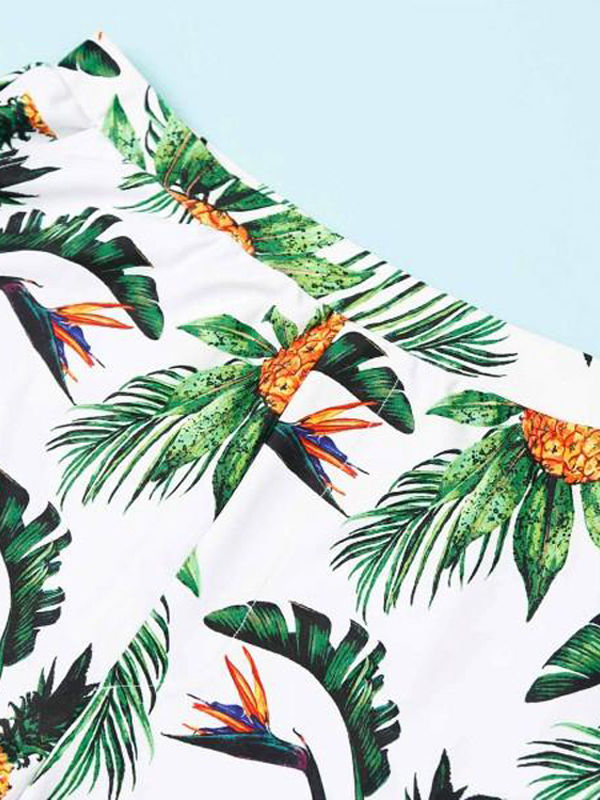 931717b1b991b ... Family Matching Pineapple Printed Swimming Trunks for Father and Son