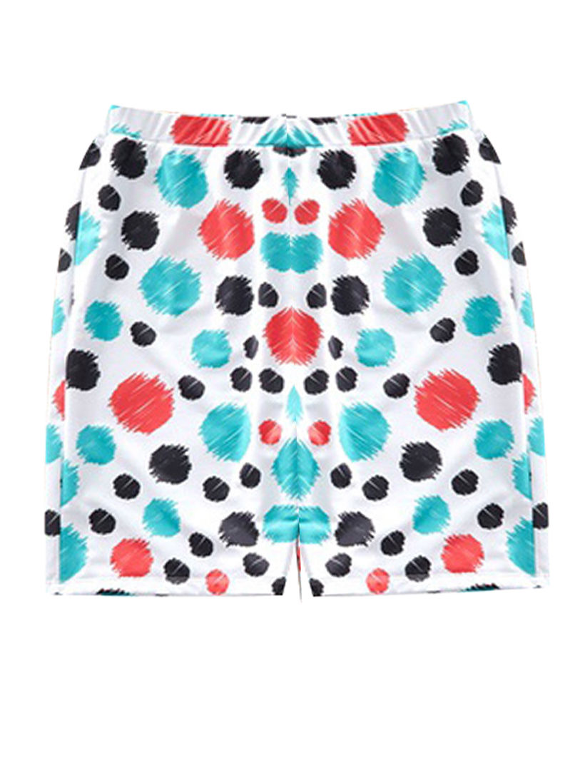 c233b5b99b ... Family Outfit Stylish Colorful Polka Dots Swimming Trunks for Dad and  Son ...