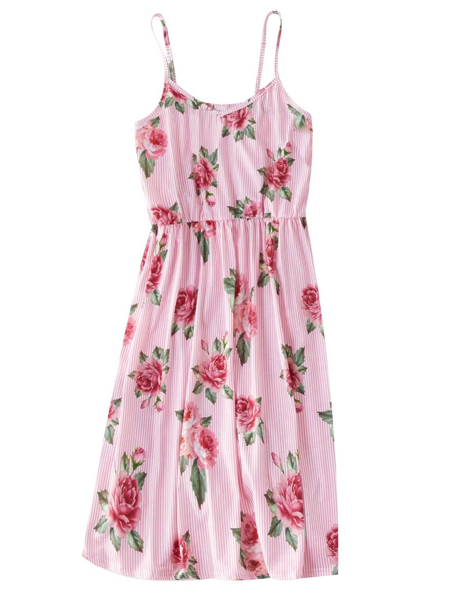 77beb35584 Mommy and Me Flower Pinstripe Sundress Mommy and Me Flower Pinstripe  Sundress ...