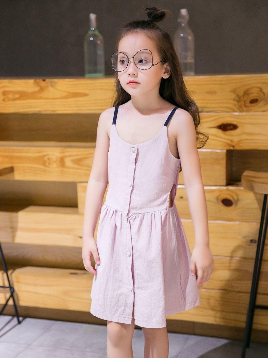 b9dd2f134bb Little Big Girl Buttoned Sundress Little Big Girl Buttoned Sundress ...