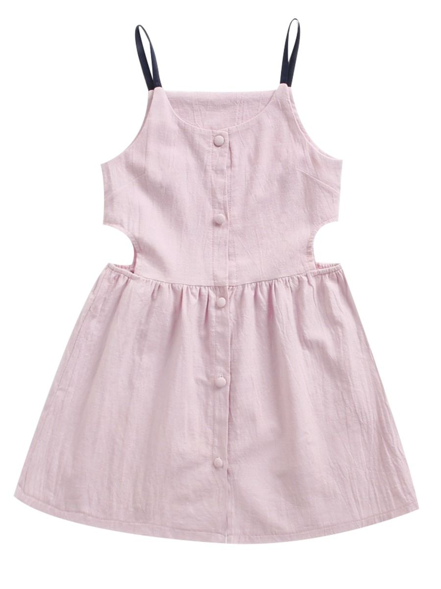 c6528f15f24 Wholesale Little Big Girl Buttoned Sundress 19050556 -