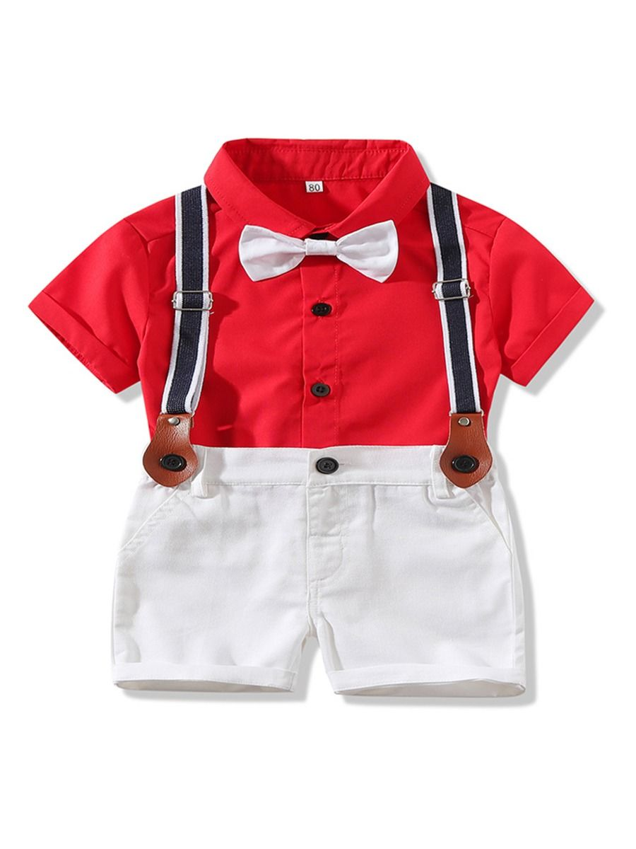 Baby Boy Suit Red