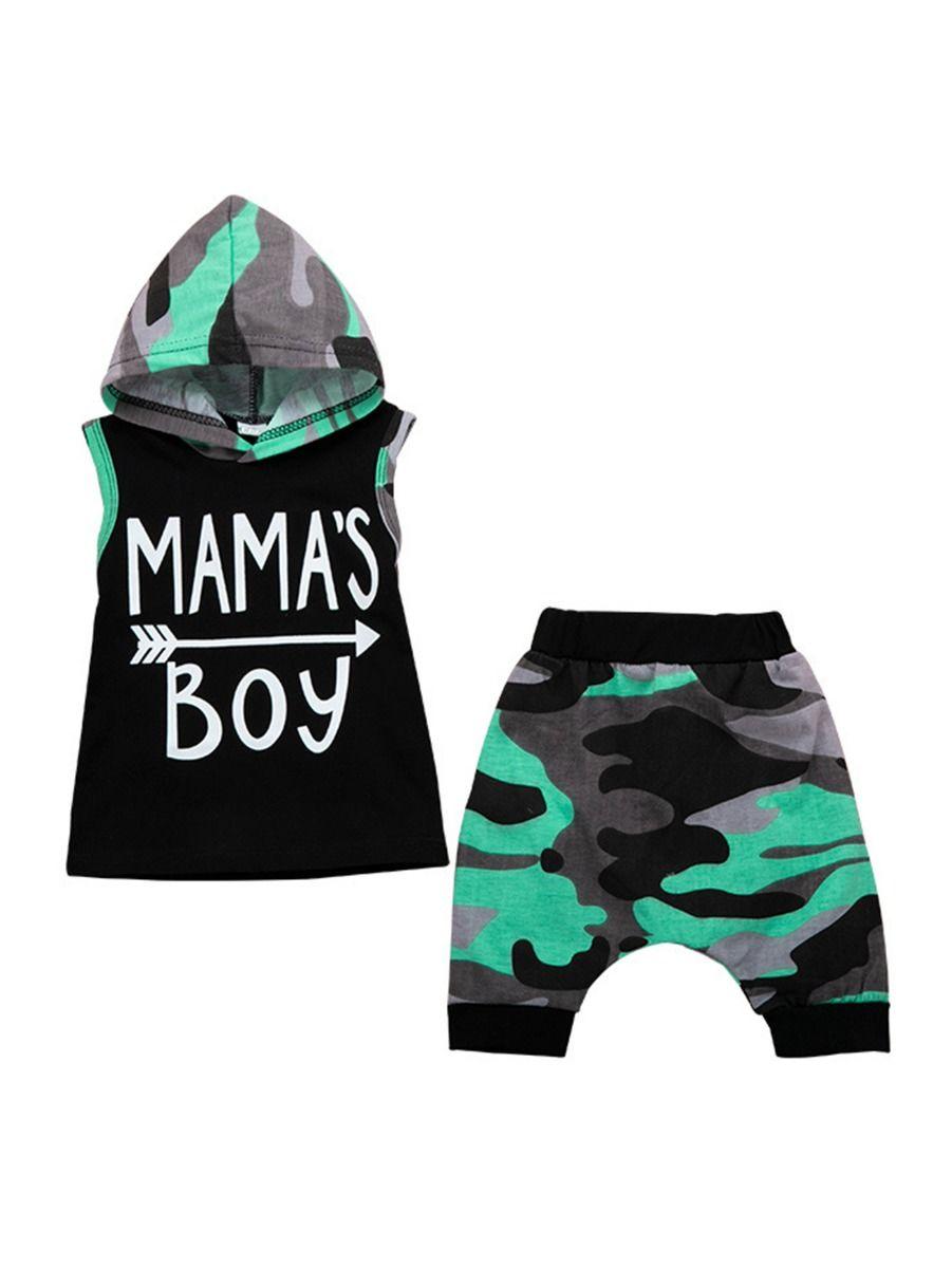Afunbaby Toddler Baby Boys Summer Shorts Sets Mamas Boy Sleeveless Shirts Tank Tops and Shorts 2Pcs Clothes Outfits