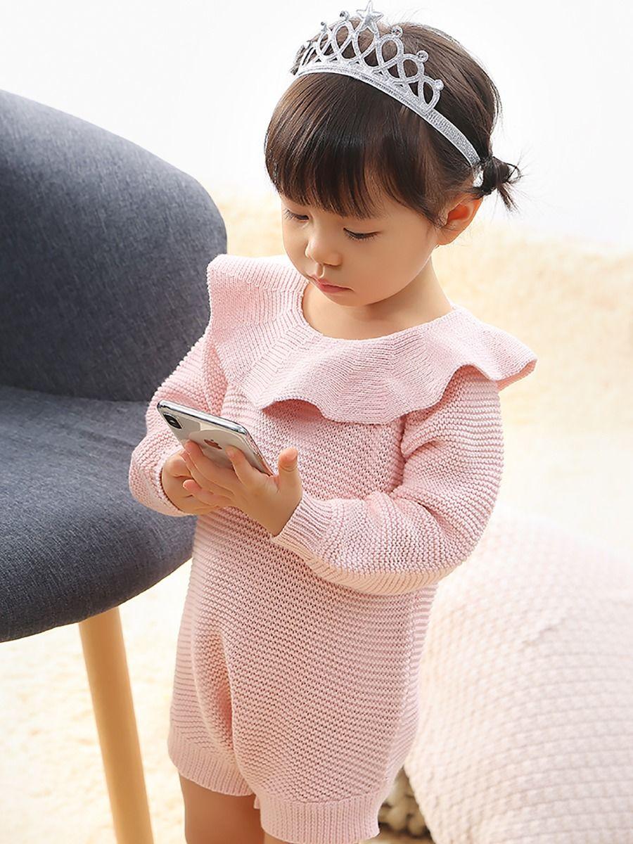 Wholesale Solid Color Baby Bodysuit Onesie Long Sleeve